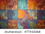 old wall ceramic tiles patterns ... | Shutterstock . vector #477410368
