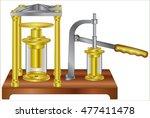 hydraulic pump | Shutterstock .eps vector #477411478