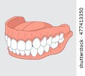 tooth vector 10 dentist  teeth... | Shutterstock .eps vector #477413350