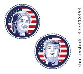 trump and clinton presidential... | Shutterstock .eps vector #477413494