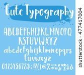 cute typography letters set.... | Shutterstock .eps vector #477417004