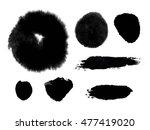 Vector Set Of Black Brush...