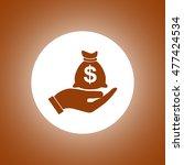 money insurance sign. hand...
