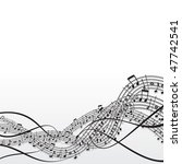 musical notes background  ... | Shutterstock . vector #47742541
