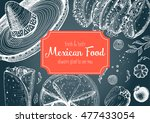 mexican food frame. mexican... | Shutterstock .eps vector #477433054