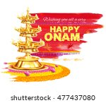 Illustration Of Happy Onam...