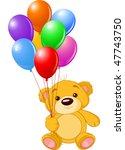 vector illustration of cute... | Shutterstock .eps vector #47743750
