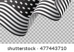 black and white american waving ... | Shutterstock .eps vector #477443710