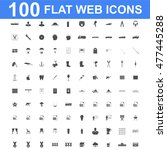 100 icon set. concept... | Shutterstock . vector #477445288
