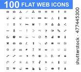 100 icon set. concept... | Shutterstock . vector #477445300