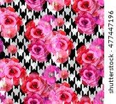 abstract seamless pattern... | Shutterstock . vector #477447196
