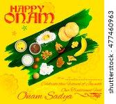 illustration of onam sadya... | Shutterstock .eps vector #477460963