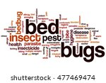 bed bugs word cloud concept | Shutterstock . vector #477469474