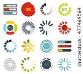 download progress icons set in...   Shutterstock .eps vector #477469564