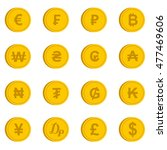 currency from different... | Shutterstock .eps vector #477469606