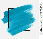logo brush painted watercolor...   Shutterstock .eps vector #477471310