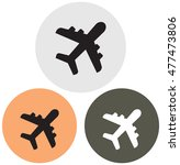 plane icon | Shutterstock .eps vector #477473806