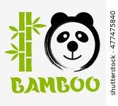 vector panda bear with enso ... | Shutterstock .eps vector #477475840
