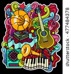 colorful music background.... | Shutterstock .eps vector #477484378