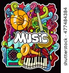 colorful music background.... | Shutterstock .eps vector #477484384