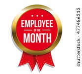employee of the month label or... | Shutterstock .eps vector #477486313