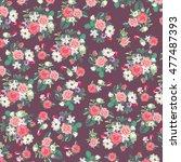 original floral textile  rose... | Shutterstock . vector #477487393