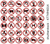 safety sign  mandatory sign ... | Shutterstock .eps vector #477494014