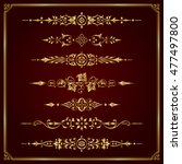 ornamental page dividers in gold | Shutterstock .eps vector #477497800