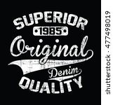superior original denim... | Shutterstock .eps vector #477498019