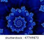 Blue Dark Helix Fractal