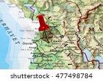 Map With Pin Point Of Tirana I...