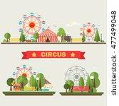 traveling carnival amusement... | Shutterstock . vector #477499048