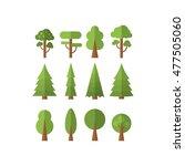 set of  tree . raster... | Shutterstock . vector #477505060
