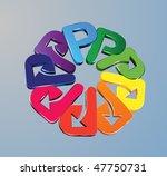 3d corporate circle | Shutterstock .eps vector #47750731