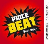 price beat. vector illustration. | Shutterstock .eps vector #477507454