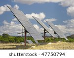 solar panels aligned and faced... | Shutterstock . vector #47750794