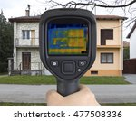 thermal image of semi detached... | Shutterstock . vector #477508336