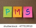 pms  premenstrual syndrome ... | Shutterstock . vector #477519910