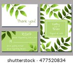 set of wedding cards template... | Shutterstock .eps vector #477520834