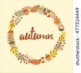 organic circular frame with... | Shutterstock .eps vector #477524449