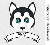 dog pet mascot icon | Shutterstock .eps vector #477534553