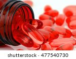 red soft gelatin capsule use in ... | Shutterstock . vector #477540730