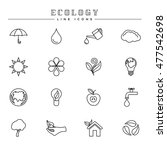 ecology line icons set | Shutterstock .eps vector #477542698