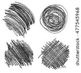 set of hand drawn scribble... | Shutterstock .eps vector #477545968
