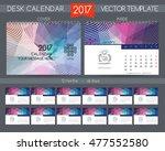 design desk calendar 2017....   Shutterstock .eps vector #477552580
