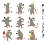 vector set of cartoon images of ...