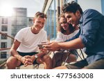 group of people watching video... | Shutterstock . vector #477563008