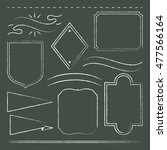 hand drawn frames on chalkboard | Shutterstock .eps vector #477566164