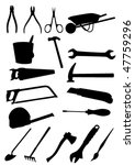 set of detailed tools isolated... | Shutterstock .eps vector #47759296