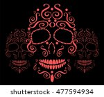 skull vector background for... | Shutterstock .eps vector #477594934